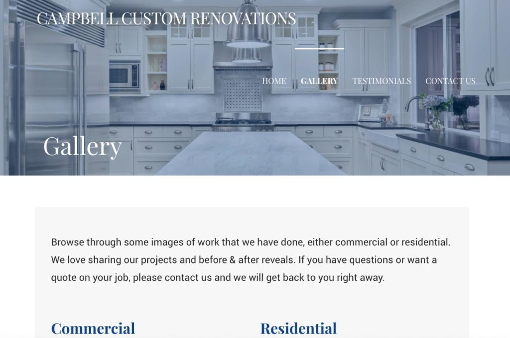 Campbell Custom Renovations Website