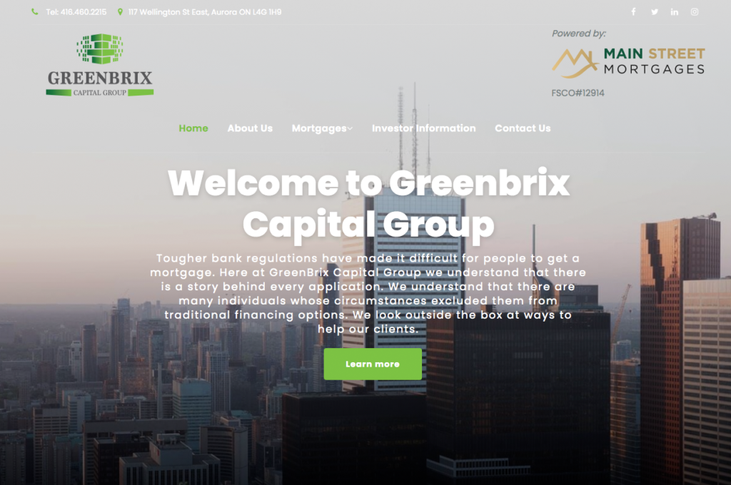 Greenbrix Capital Group Website